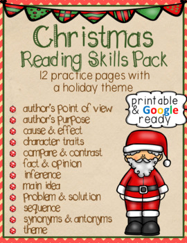 Christmas Reading Skills Pack