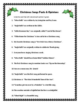 Christmas Reading Skills Review