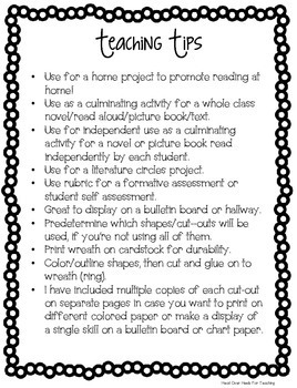 Christmas Reading Wreath Craftivity {Use with any fiction or non-fiction text}