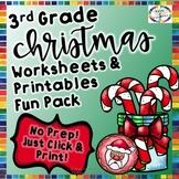 Christmas Reading, Writing, Math, and Fun Activities & Worksheets- 3rd Grade