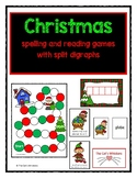 Christmas Reading and Spelling Games Silent e