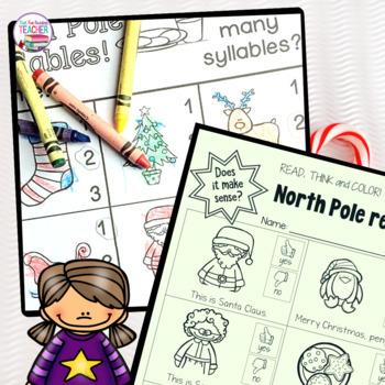 Fun North Pole Literacy Printables K-2!