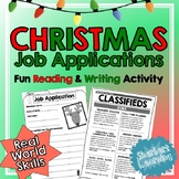 Christmas Reading and Writing Activity - Persuasive Writing for Job Applications