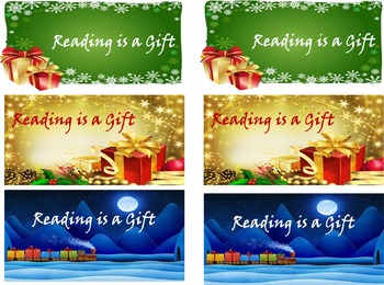 Christmas 'Reading is a Gift' Bookmarks
