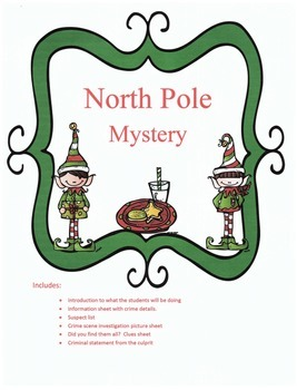 Christmas Reading or Listening Activity: North Pole Mystery