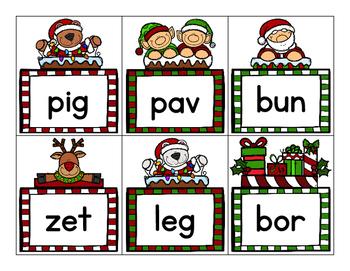 Christmas Real and Nonsense Word Sort