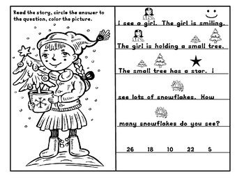 Kindergarten / First Grade - Christmas Rebus Stories
