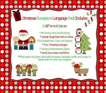 Christmas Receptive Language Pack