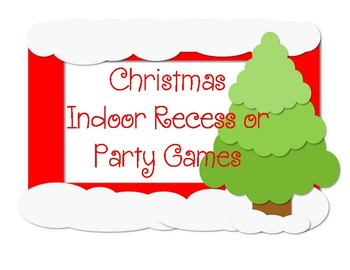 Christmas Recess/Party Games
