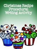 Christmas Recipe Writing Activity