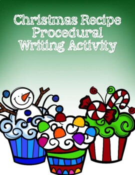 Christmas Recipe Writing Activity
