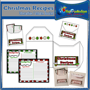 Christmas Recipes Interactive Foldable Booklet