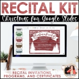Christmas Recital Kit {EDITABLE}: Invitations, Program Templates, & Certificates