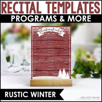 Christmas Recital Kit {EDITABLE}: Invitations, Program Tem
