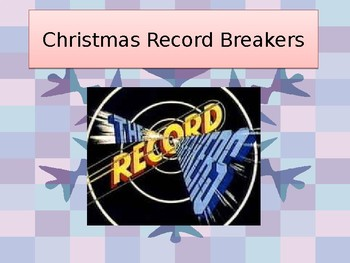 Christmas Record Breakers Brussel Sprouts Assembly