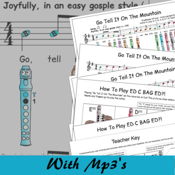 Christmas Recorder Sheet Music - Go Tell It On The Mountain G