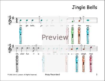 Christmas Recorder Sheet Music - Jingle Bells