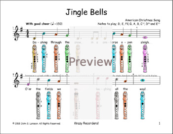 how to play jingle bells on the recorder tutorial