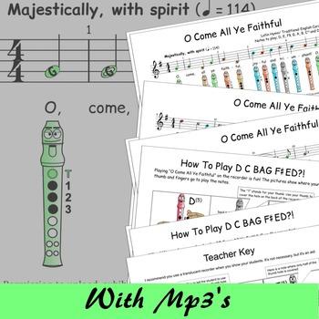 Christmas Recorder Sheet Music - O Come All Ye Faithful