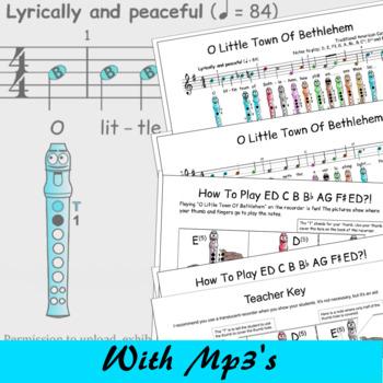 Christmas Recorder Sheet Music - O Little Town Of Bethlehem