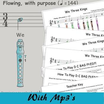 Christmas Recorder Sheet Music - We Three Kings