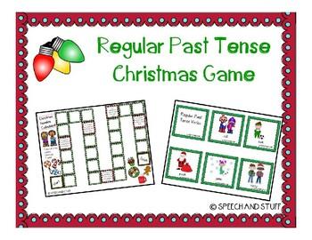 Christmas Regular Past Tense -ed Verbs Game!