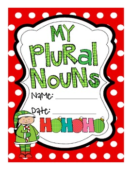Christmas Regular and Irregular Plural Noun Printables with CCSS!