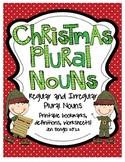 Christmas Regular and Irregular Plural Noun Printables with CCSS!