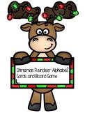Christmas Reindeer Alphabet Cards and Game Ideas