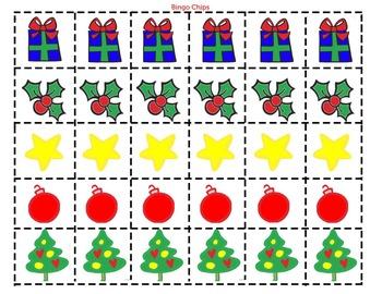 Reindeer Bingo: Early Language Concepts