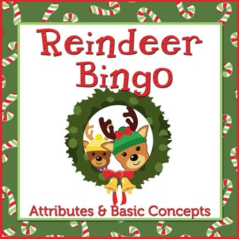 Reindeer Bingo: Early Language Concepts