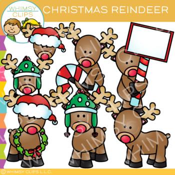 Reindeer Clip Art {Christmas Clip Art}