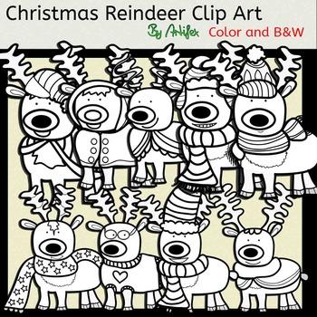 Christmas Reindeer Clip Art