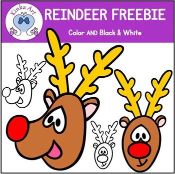 Christmas Reindeer Clip Art FREEBIE