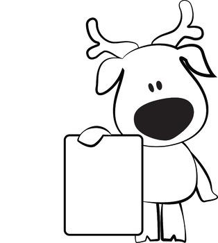Christmas Reindeer - Clip art