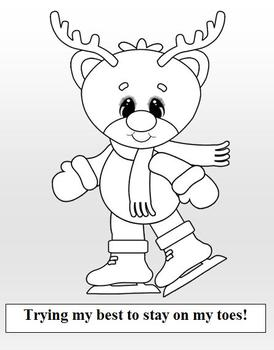 Christmas Reindeer Coloring Book 7 Pages!