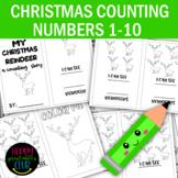 Christmas Reindeer Counting Activities Number 1-10 for Pre-K/Kindergarten