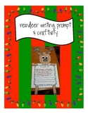 Christmas- Reindeer Craftivity and Writing Prompt