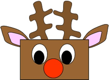 Christmas Reindeer Cut and Paste Craft