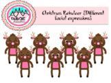 Christmas Reindeer {Different Facial Expressions}