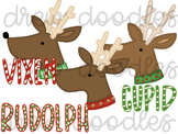 Christmas Reindeer Digital Clip Art Set