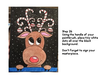 Christmas Reindeer Directed Drawing/Painting