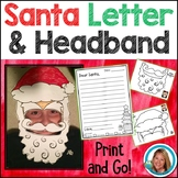 Letter to Santa Writing and Christmas Santa Headband