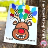 Christmas Reindeer Lights Speech Therapy Craft {language a