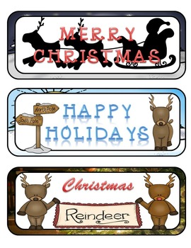 Christmas Reindeer Mini Fold-Ems and Writing Templates