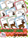 Christmas Reindeer Movement Cards for Preschool and Brain Break