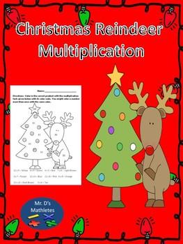 Christmas Reindeer Multiplication