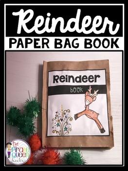 Christmas Reindeer Paper Bag Book