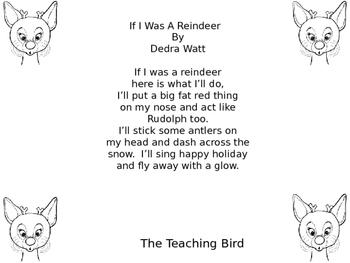 Christmas Reindeer Poem - Great Stocking Stuffer!