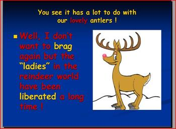 Christmas Reindeer Power Point without Activities